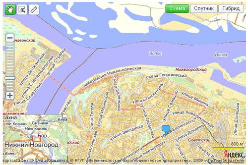 Пример Яндекс.Карты с маркером