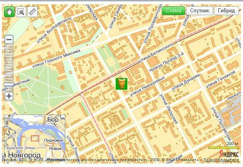 Пример Яндекс.Карты с собственным маркером