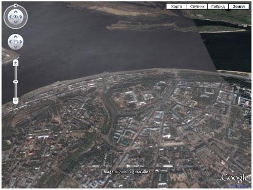 Google Earth вид в браузере