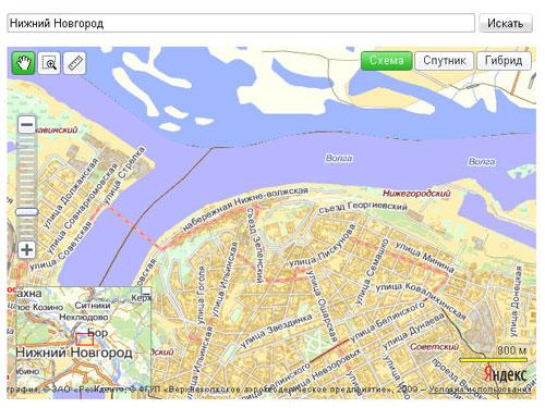 Пример Яндекс.Карты с формой поиска