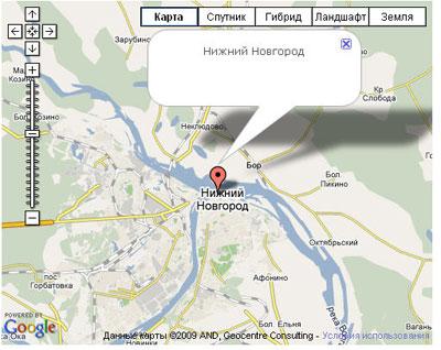 Простая карта с маркером - Google Maps для Joomla