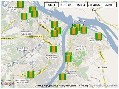 Карта с использованием KML-файла - Google Maps для Joomla