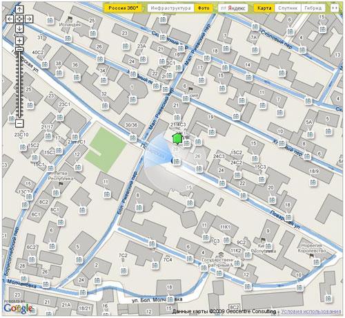 Совместное использование API Яндекс.Карт и Google Maps на примере портала «Где Этот Дом.Ру» рис-1