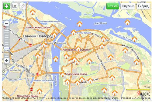 Рис.1 Яндекс.Карта на Вашем сайте с возможностью добавления меток пользователями – Продолжение-3