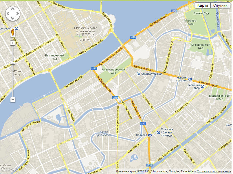 карты гугл на русском языке