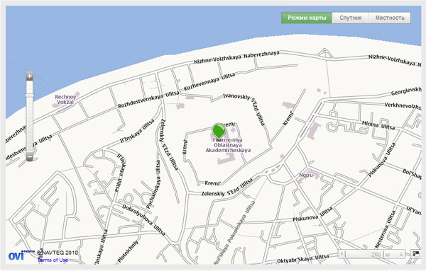HTML5 Geolocation и Nokia Maps