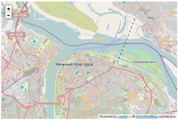 Leaflet - выводим слой OpenStreetMap