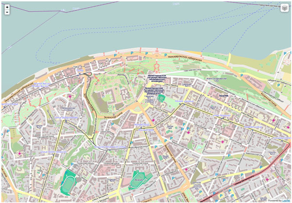 Вывод OpenStreetMap