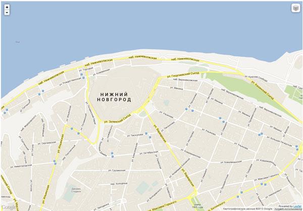 Вывод Google Maps