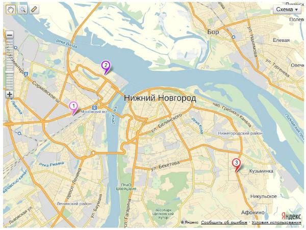 Загрузка YmapsML - API Яндекс.Карт 2.х. Первый пример