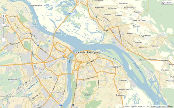 Элементы управления картой. Пример создания карты с использованием API Яндекс.Карт 2.1.