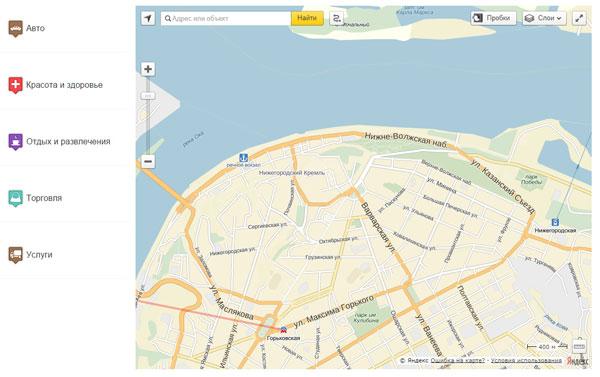 Справочник на карте, с использованием API Яндекс.Карт 2.1 Новая версия
