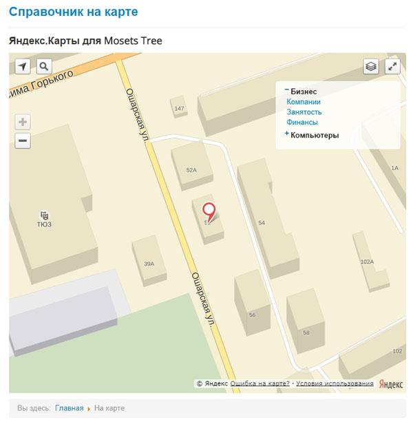 Модуль Яндекс.Карты для Mosets Tree - метки для категории Финансы