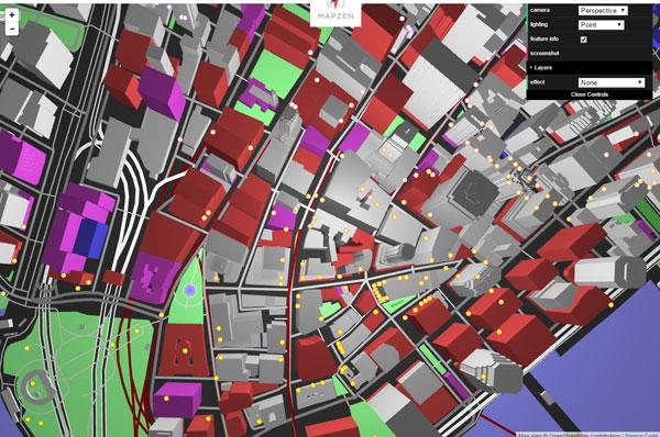 Mapzen's Vector Tiles - пример карты